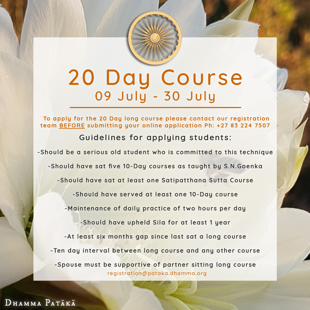 Vipassana Long Course